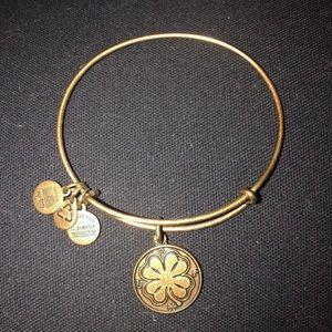 Gold Clover Alex & Ani Bracelet
